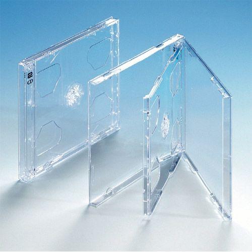 Dünne Doppelbox, transparentes Tray, VPE 25 Stk.
