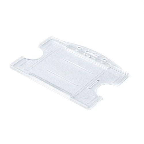 Hartplastikhülle mit 2 Ausschubvorrichtungen, transparent
