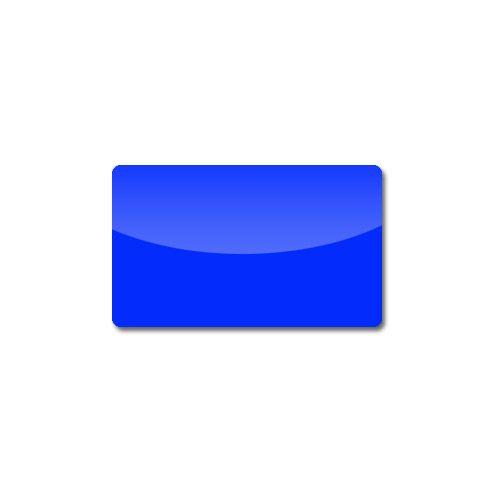 Plastikkarte, einfärbig blau, 0.76 mm, VPE 100 Stk.