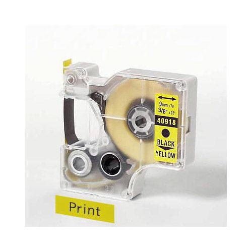 D1 Schriftband 9 mm, schwarz auf gelb