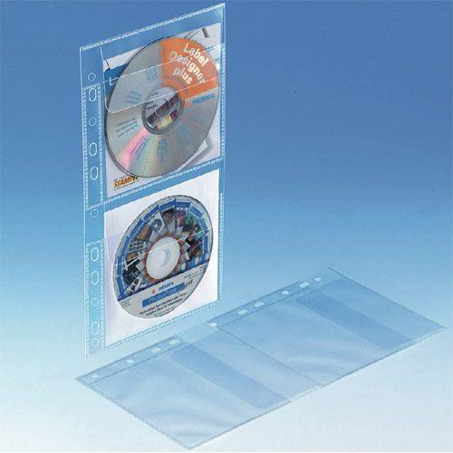 CD Einhefter PP für 2 Discs, VPE 10 Stk.