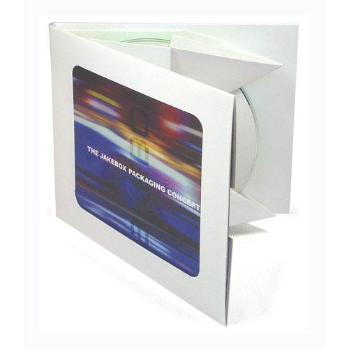 Jakebox CD mit Fenster, weiß, VPE 10 Stk.