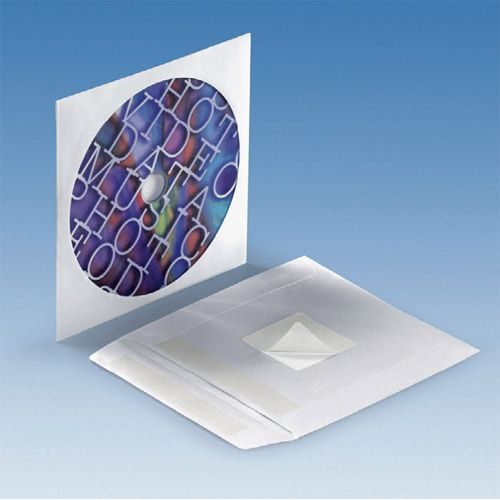 Papierstecktasche mit Sichtfenster, selbstklebend, VPE 100 Stk.