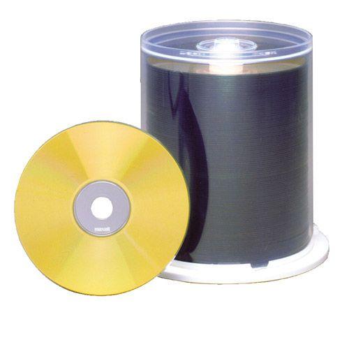 CD-R 700 MB INKJET WHITE FS Gold Dye, VPE 100 Stk.