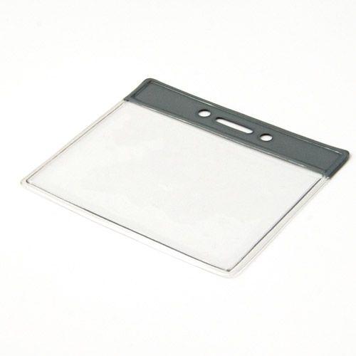 Weichplastikhülle, transparent, grauer Haltestreifen