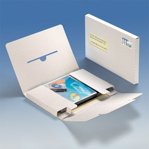 DVD Versandbox A5, Adressfensterausstanzung, VPE 25 Stk.
