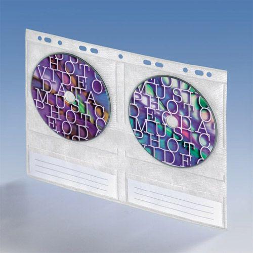 CD Einhefter PP für 4 Discs mit Vlies, VPE 10 Stk.