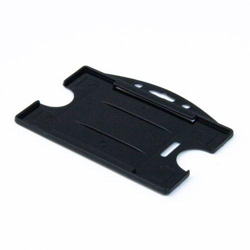 Hartplastikhülle mit 2 Ausschubvorrichtungen, schwarz